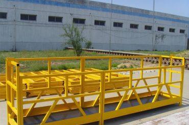 ZLP 800 High Rise Building Gluggaklefa Platform 300M 2.5M * 3 1.8KW 800KG
