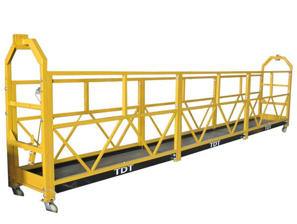 Stál / Heitt galvaniseruðu / Ál Alloy Rope Suspended Platform 1.5KW 380V 50HZ